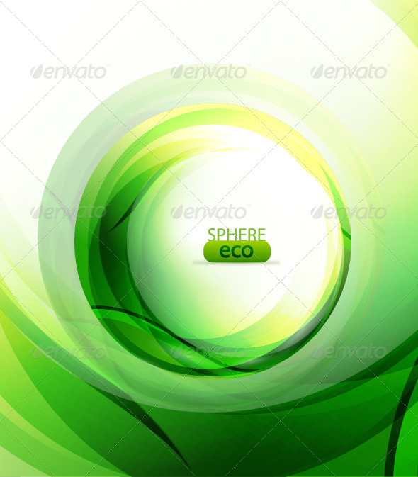 Abstract green background - Abstract Conceptual