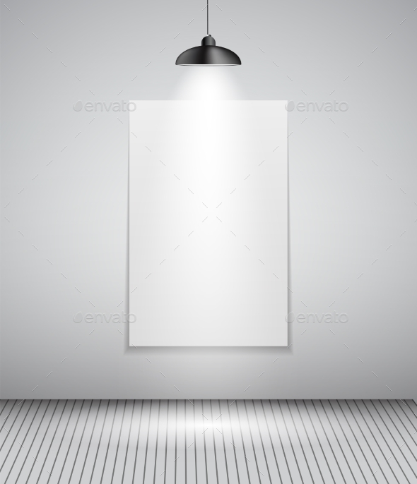 Background with Lighting Lamp and Frame - Backgrounds Decorative