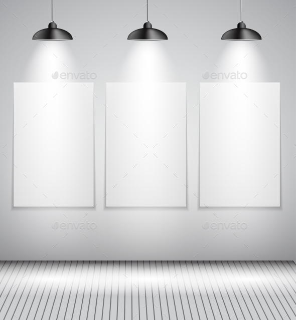 Background with Lighting Lamps and Frames - Backgrounds Decorative
