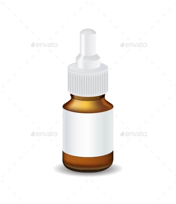 Medical Bottle - Health/Medicine Conceptual