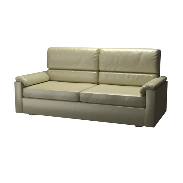 Leather Couch - 3DOcean Item for Sale