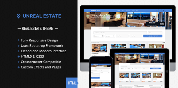 Unreal Estate - Responsive Real Estate template - Business Corporate