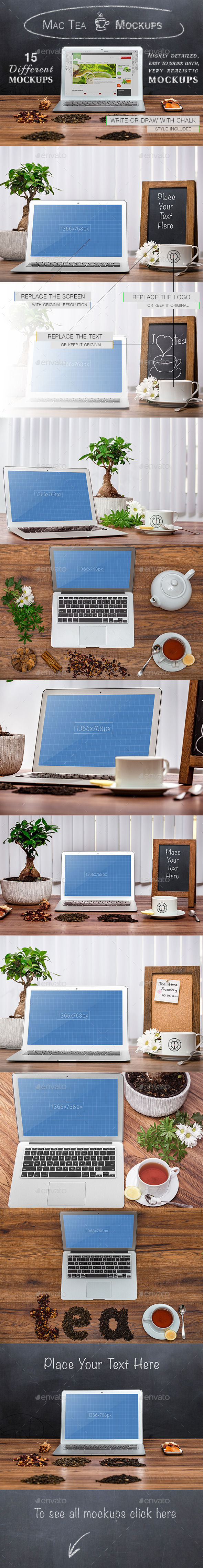 15 Mac-Tea Mockups - Laptop Displays