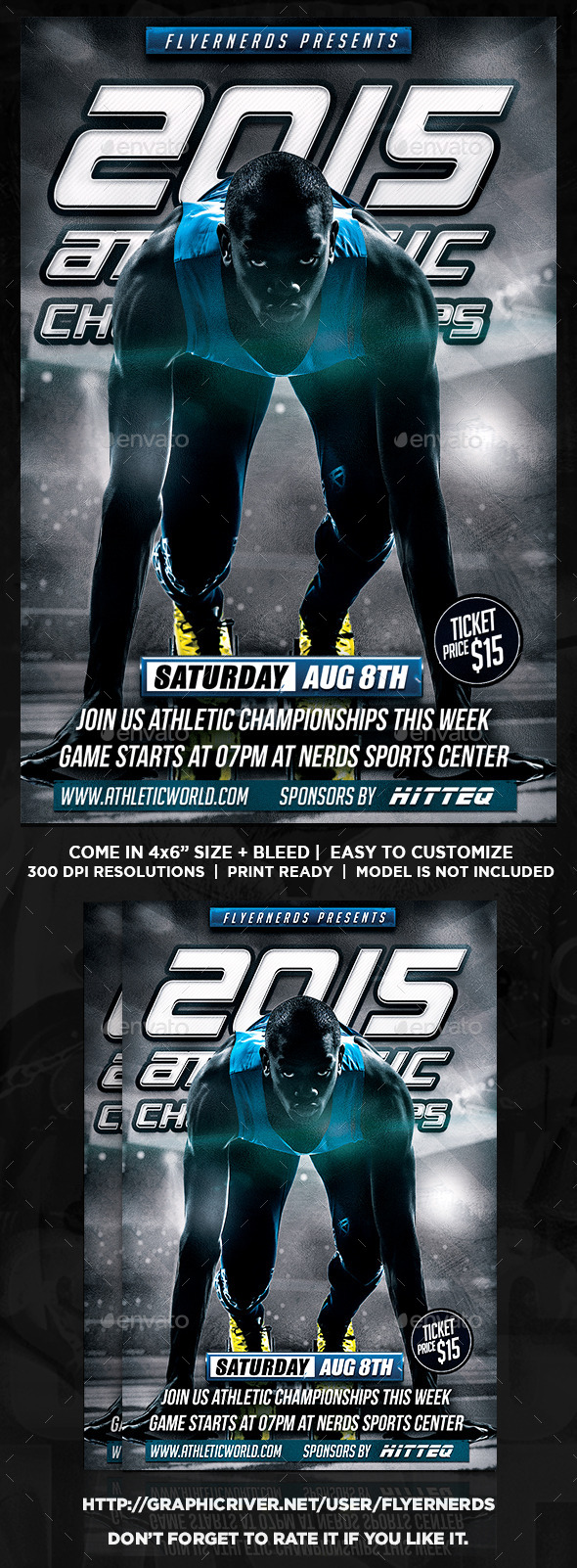 Athletic Championships Sports Flyer - Sports Events