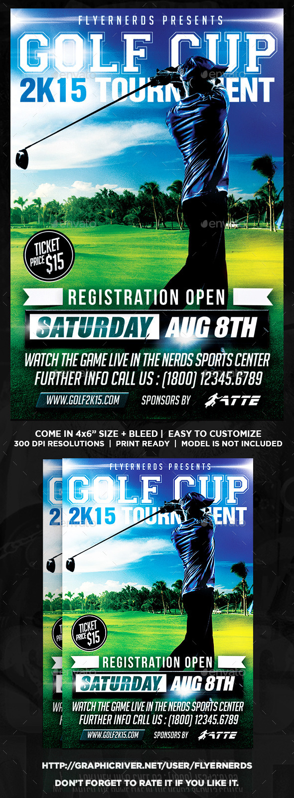 Golf Cup 2K15 Tournament Sports Flyer - Sports Events