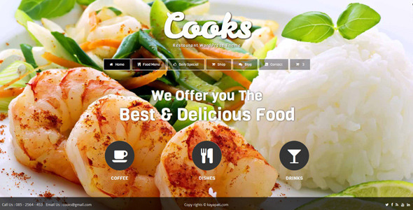 Cooks – Restaurant WordPress Theme