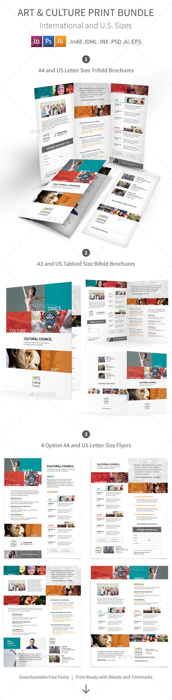 Art and Culture Print Bundle - Informational Brochures