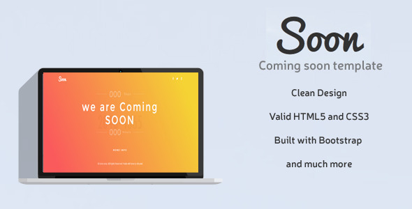 Soon – Responsive Coming Soon HTML Template