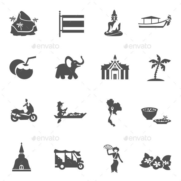 Thailand Travel Icons Set - Seasonal Icons