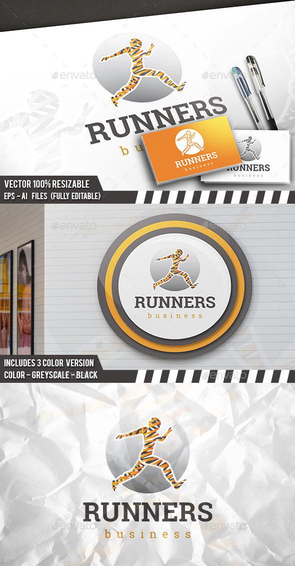 Running Logo - Humans Logo Templates