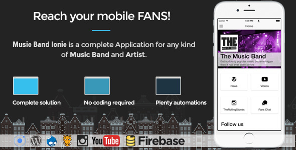 Music Band Ionic - Full Application - CodeCanyon Item for Sale