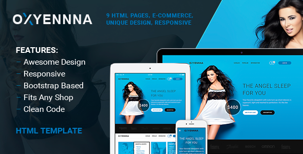 Oxena Unique eCommerce Store HTML Template