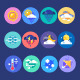Weather Flat Icon Set - GraphicRiver Item for Sale