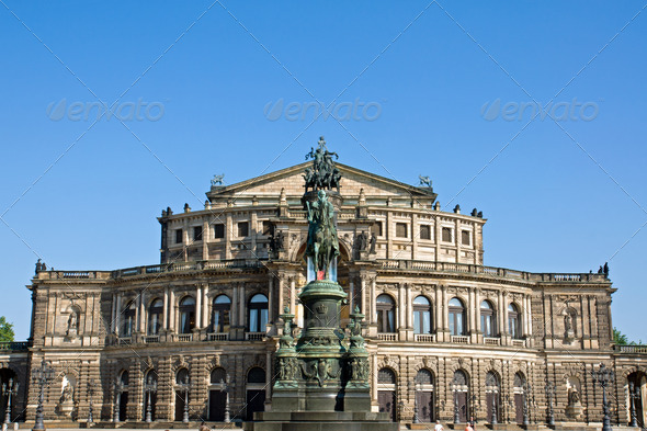 The famous Semper opera in Dresden - Stock Photo - Images