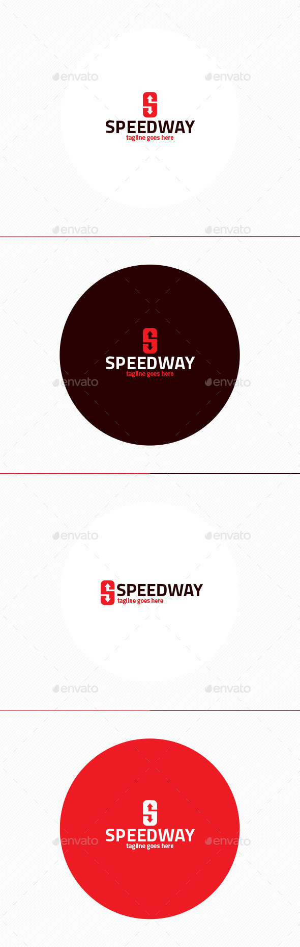 Speed Way Logo • Letter S