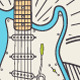 Trendy Retro Vintage Insignias with Guitar. - GraphicRiver Item for Sale