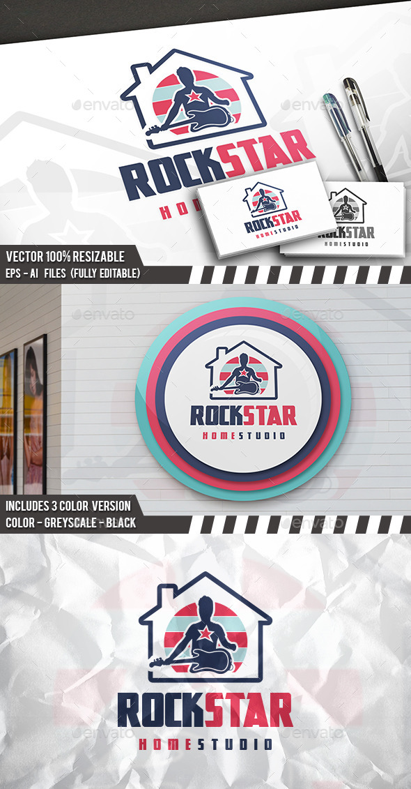 Rock House Logo - Humans Logo Templates