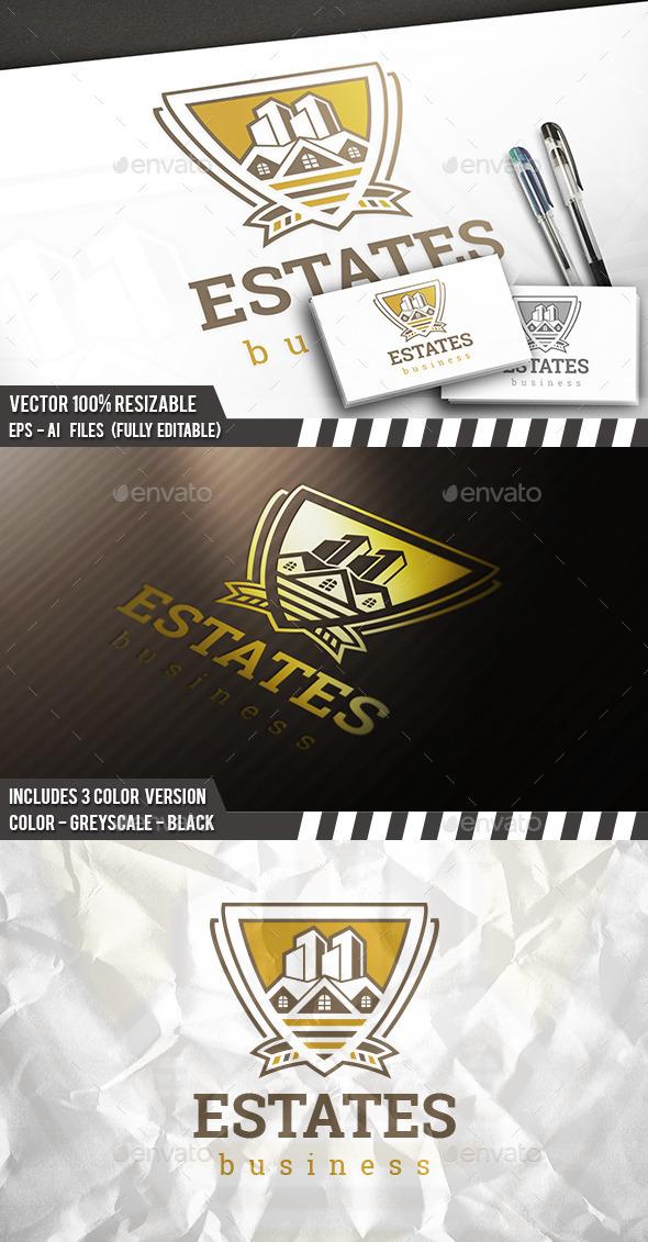 Real Estate Shield Logo - Buildings Logo Templates