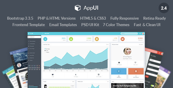AppUI – Web App Bootstrap Admin Template