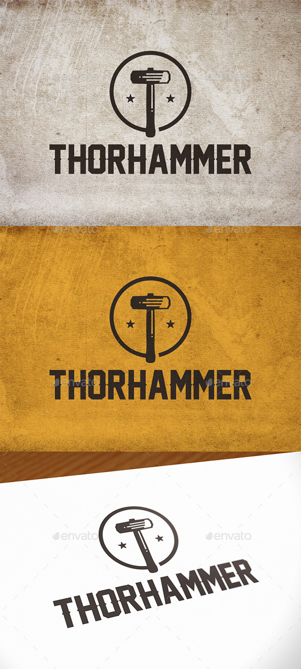 Thor Hammer Logo Template - Objects Logo Templates