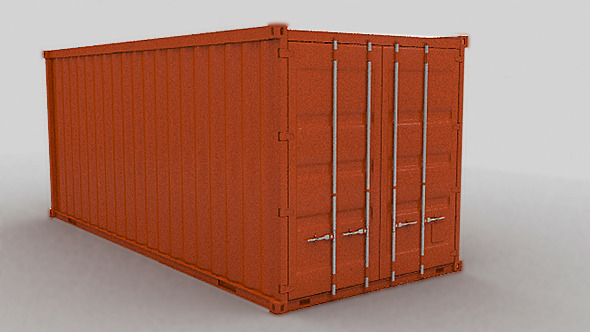 Shipping Container 20ft - 3DOcean Item for Sale