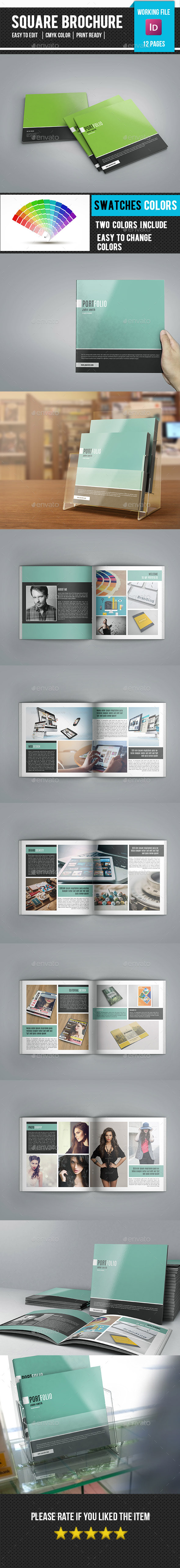 Square Bifold Brochure for Portfolio-v67 - Corporate Brochures