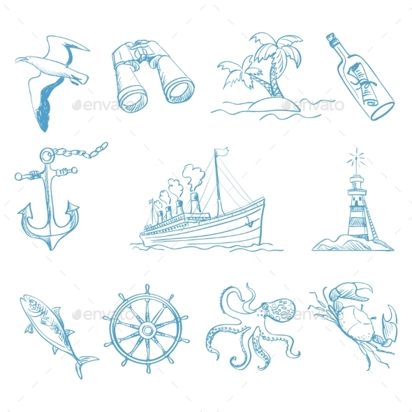 Seamless Background On Boating Theme - Travel Conceptual