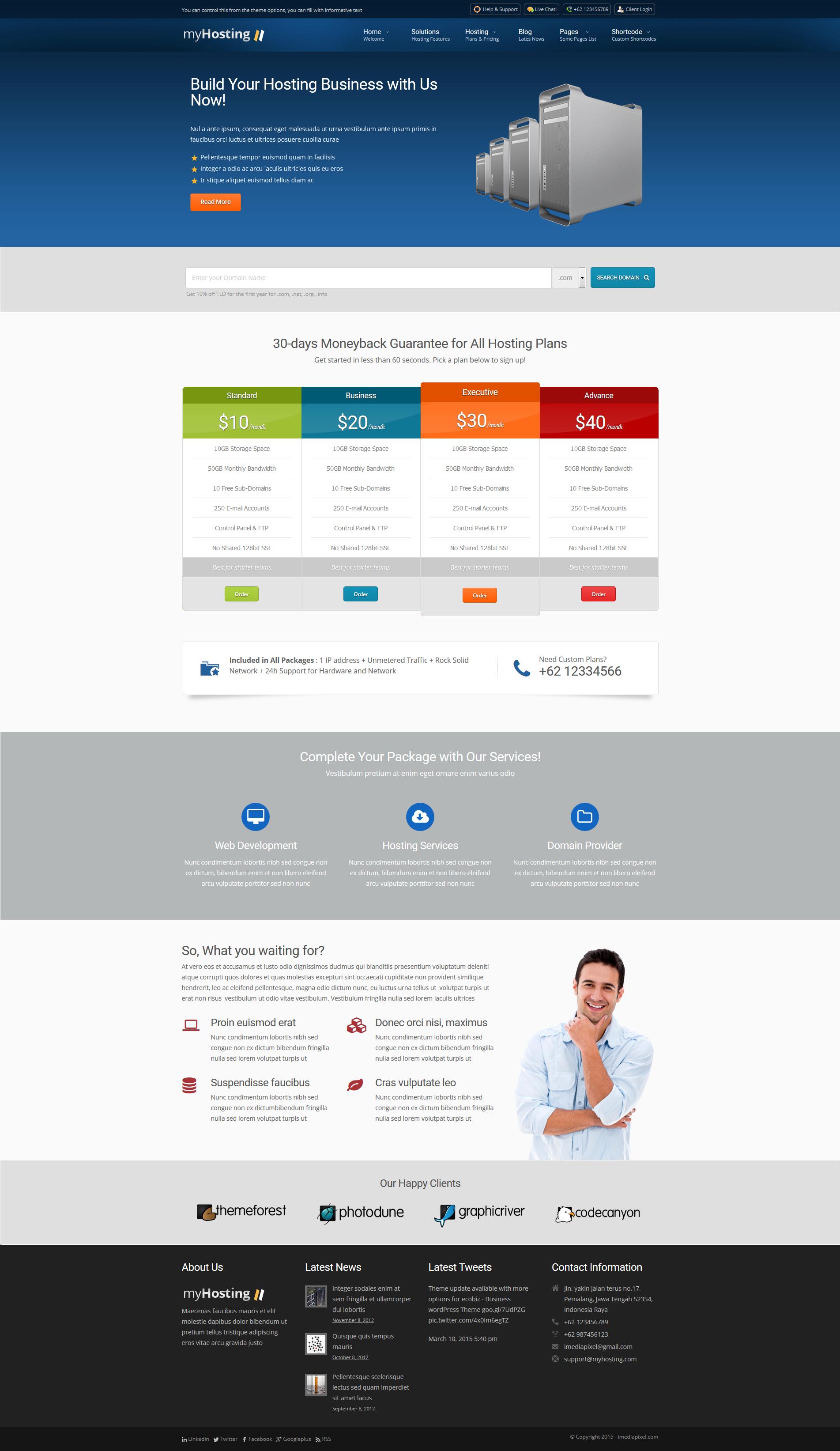 myHosting - Responsive Hosting & Business Theme