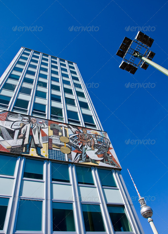 Haus des Lehrers in Berlin - Stock Photo - Images