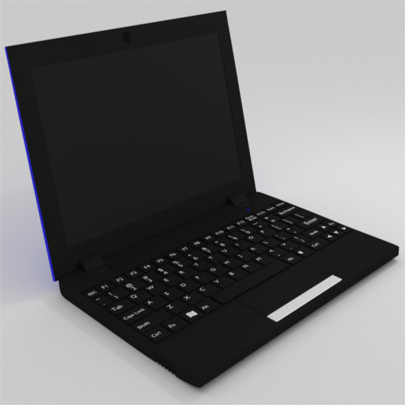 Netbook - Blue - 3DOcean Item for Sale