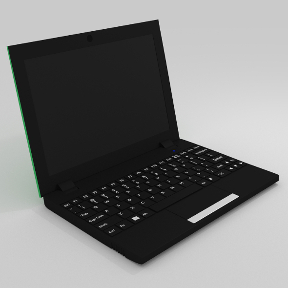 Netbook - Green - 3DOcean Item for Sale