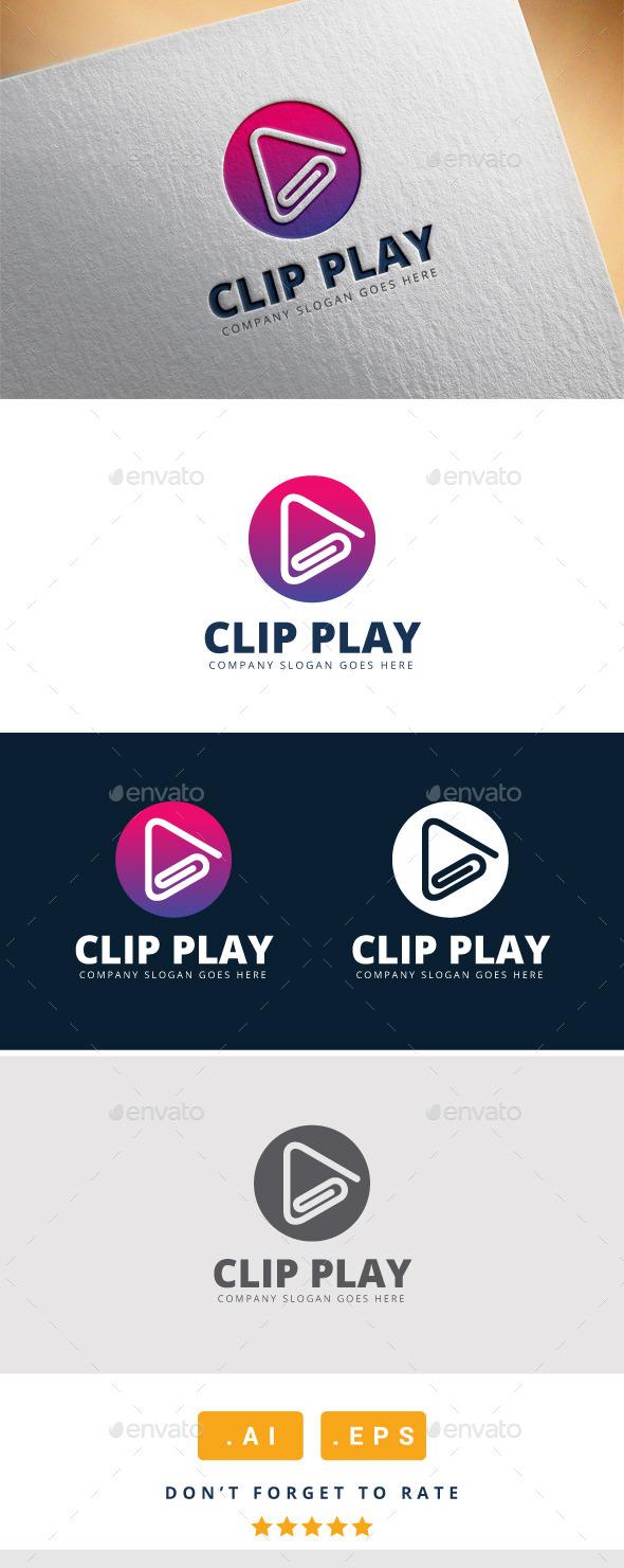 Clip Play Logo - Logo Templates