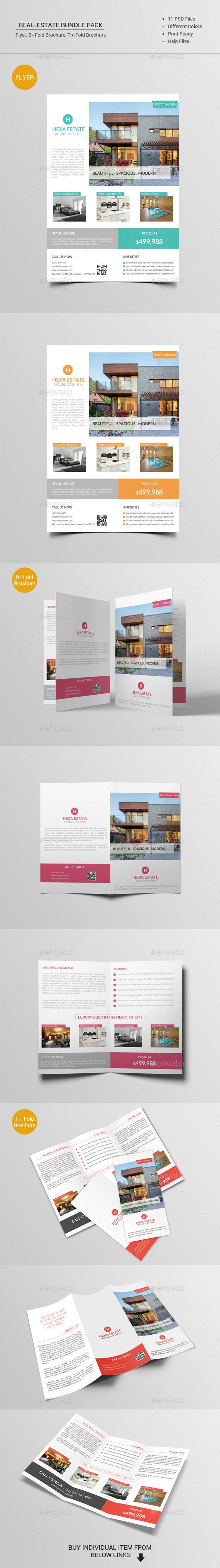 Real Estate Bundle Pack - Brochures Print Templates