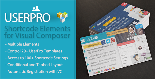UserPro Shortcode Elements for Visual Composer - CodeCanyon Item for Sale