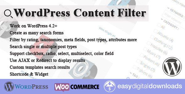 WordPress Content Filter - CodeCanyon Item for Sale