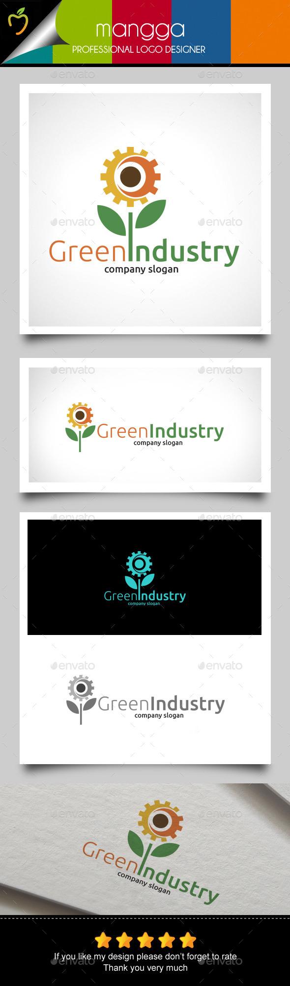 Green Industry Logo - Nature Logo Templates