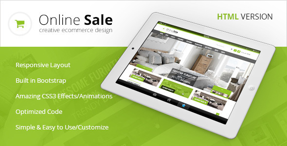 Online Sale - Responsive HTML5 eCommerce Template - Shopping Retail