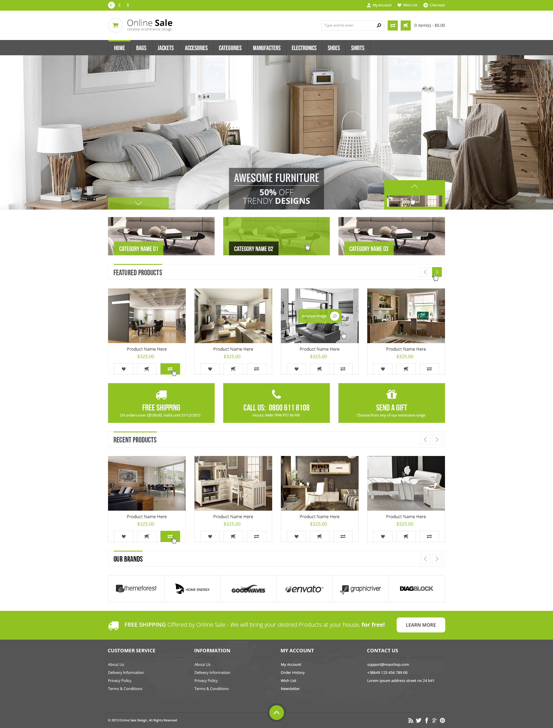 Online Sale - Responsive HTML5 eCommerce Template by PremiumLayers
