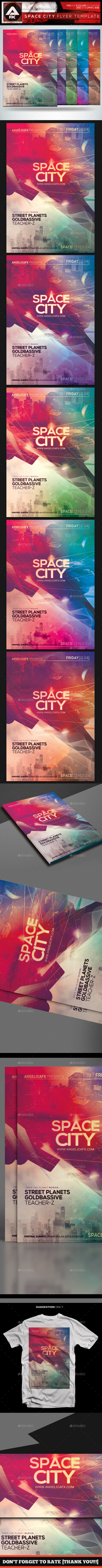 Space City Flyer Template - Flyers Print Templates