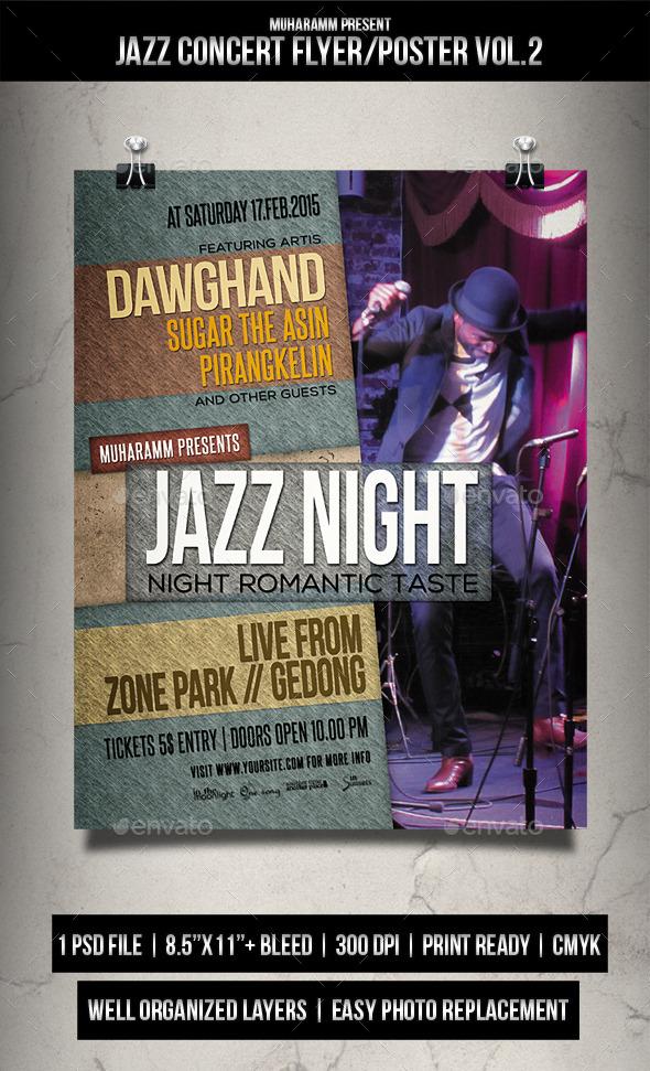 Jazz Concert Flyer / Poster Vol.2 - Events Flyers