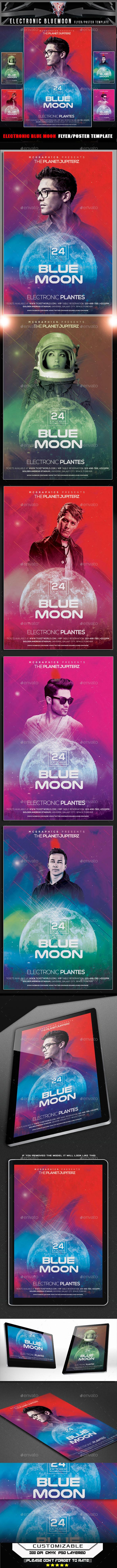 Blue Moon Flyer Template - Flyers Print Templates