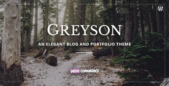 Greyson — Responsive Blog & Portfolio Theme