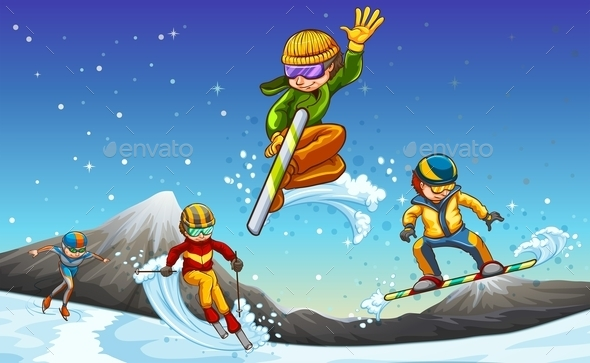 Winter Sports - Sports/Activity Conceptual