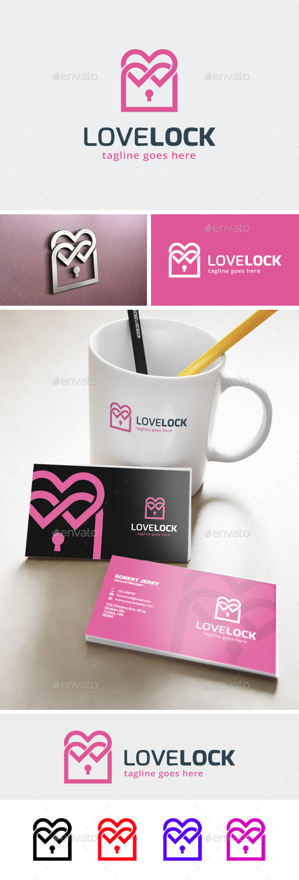Love Locked Logo  - Symbols Logo Templates