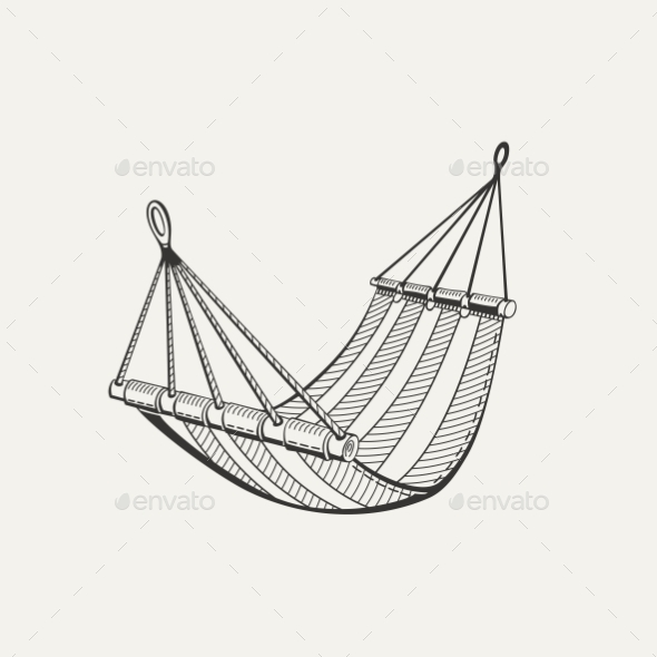 Illustration of Hammock - Man-made Objects Objects