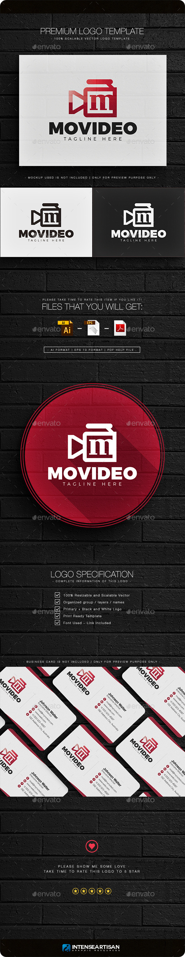 Movideo - Letter M Logo - Letters Logo Templates