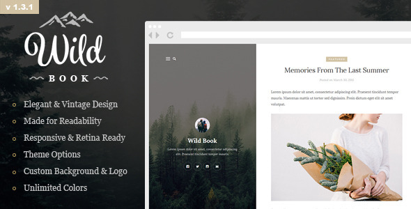 Wild Book – Vintage and Elegant WordPress Theme