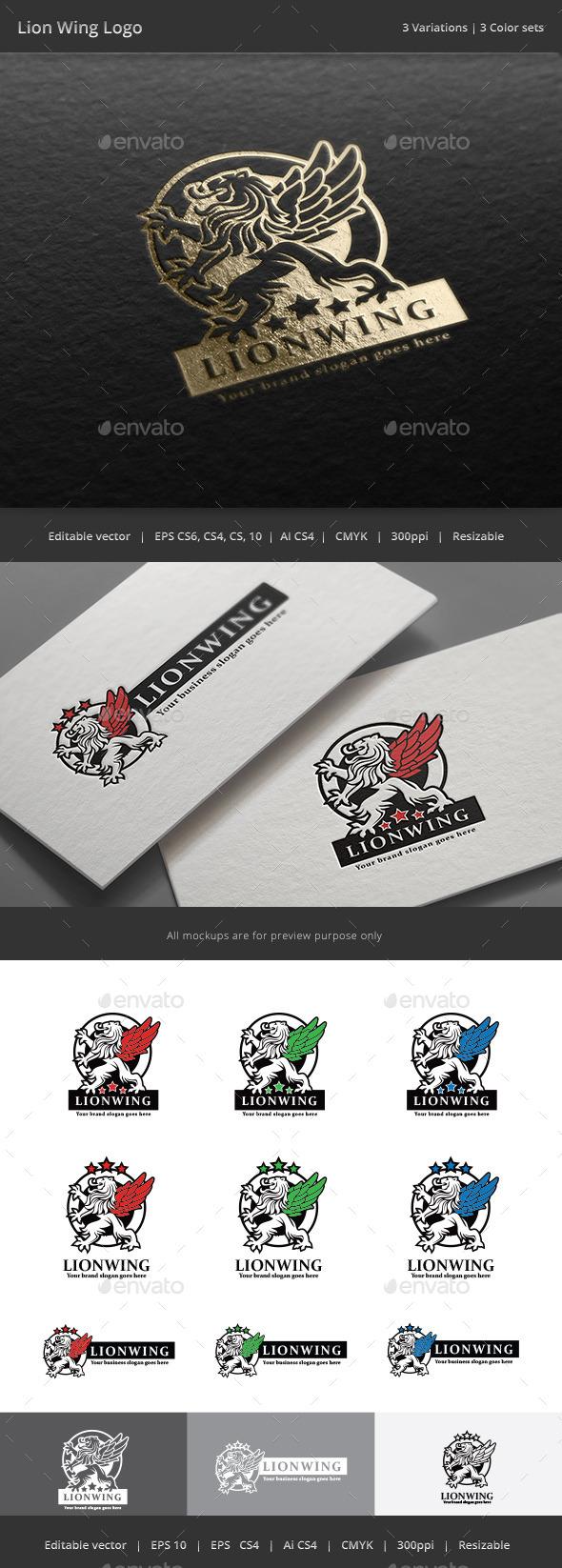 Lion Wing Crest Logo - Crests Logo Templates