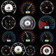 Set of Car Speedometers for Racing Design.  - GraphicRiver Item for Sale