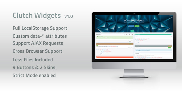 ClutchWidgets - LocalStorage Widgets - CodeCanyon Item for Sale